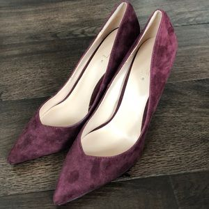 Aldo Wine Color Suede Pumps